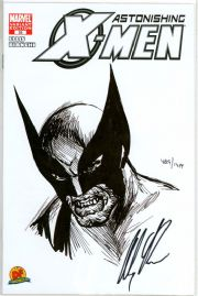 Astonishing X-Men #25 Dynamic Forces Wolverine Sketch Variant Signed Alex Ross DF COA Marvel comic